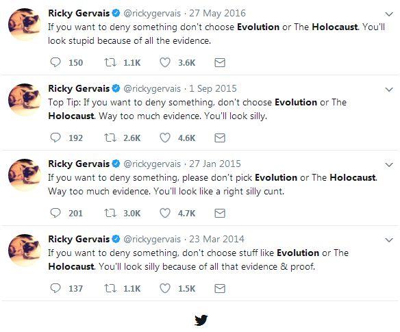 171123 gervais evolution holocaust