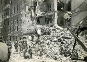 King David Hotel, Jerusalem 1946. Casualties: 91 dead (28 British, 41 Arabs, 17 Jews, 2 Armenians, 1 Russian, 1 Greek and 1 Egyptian) and 45 wounded.
